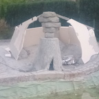 Grotte im Aufbau