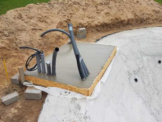 Gartenlagune - Bodenplatte Technikraum