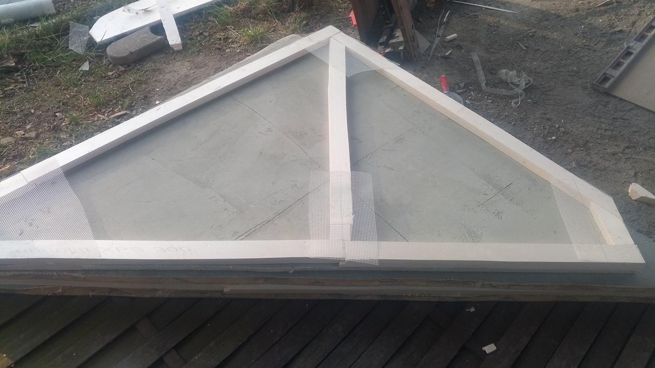 Grotte Dachkonstruktion