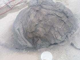 Fels eingefärbt