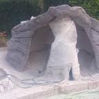 Grotte eingefärbt